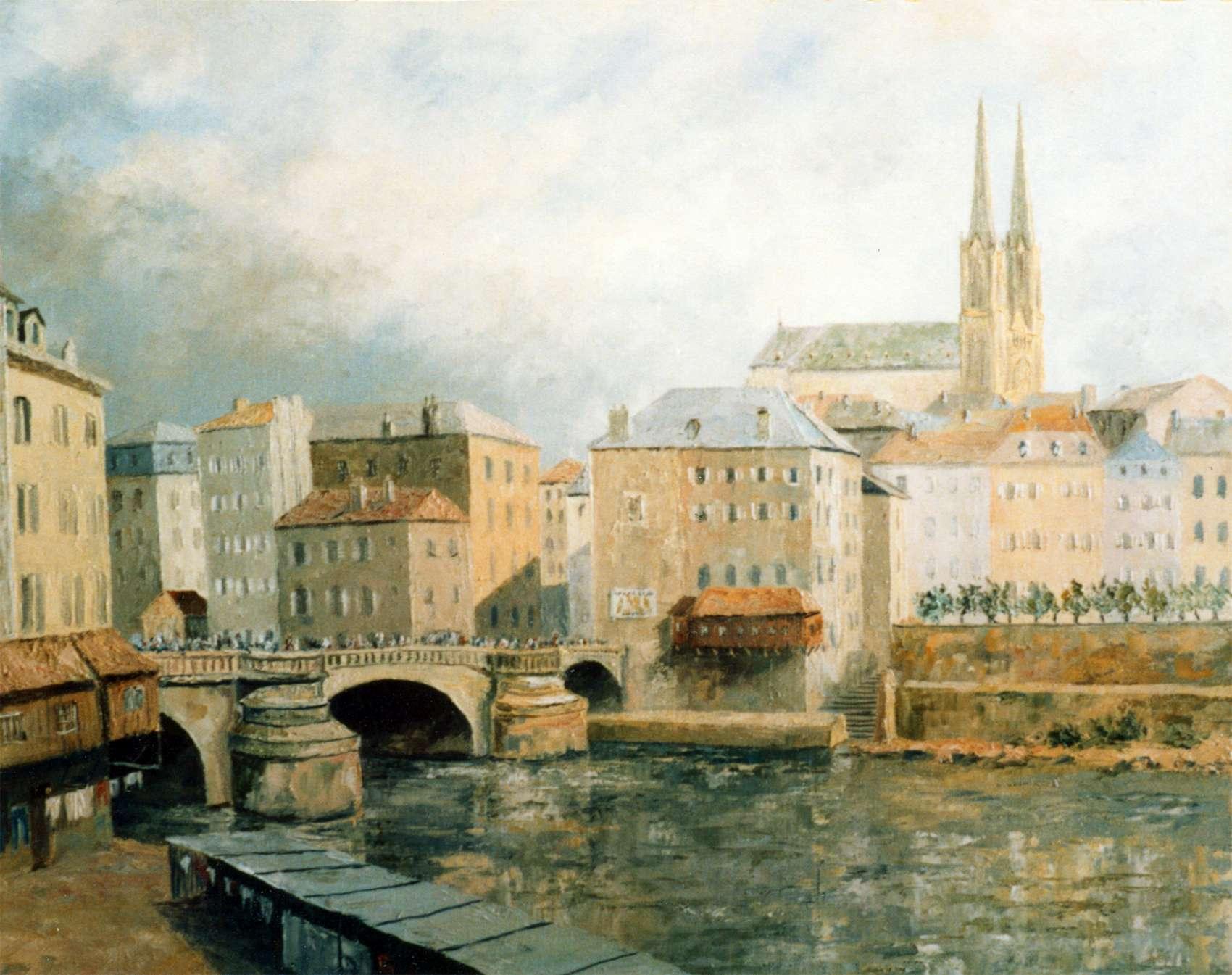 Pont St Georges Metz | Artiste peintre